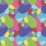 Seamless pattern with colorful hearts. Abstract background. Royalty Free Stock Image