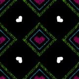 Seamless pattern with colorful hearts. Royalty Free Stock Photography