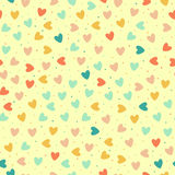 Seamless pattern with colorful hearts. And dots, vector illustration Stock Image