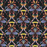Seamless pattern with colorful hearts in a modern style.  Stock Photography