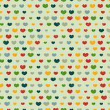 Seamless pattern with colorful hearts. Retro seamless pattern with colorful hearts Royalty Free Stock Image