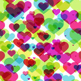 Seamless pattern with colorful hearts Royalty Free Stock Photos