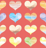 Seamless Pattern with Colorful of Hearts Royalty Free Stock Photos