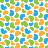 Seamless pattern of colorful hearts shapes Royalty Free Stock Images