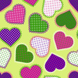 Seamless pattern with colorful hearts Stock Images