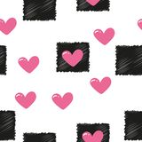 Seamless pattern with colorful hearts. Vector royalty free illustration
