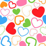 Seamless pattern with colorful hearts. Vector illustration of seamless pattern with colorful hearts Royalty Free Stock Image
