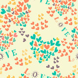 Seamless pattern with colorful hearts Stock Photography