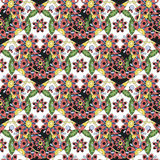 Seamless pattern with colorful hearts. - vector illustration Royalty Free Stock Images