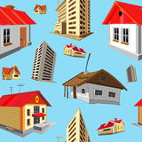 Seamless pattern with colorful houses Stock Image