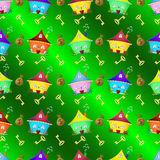 Seamless pattern colorful houses. Royalty Free Stock Photos