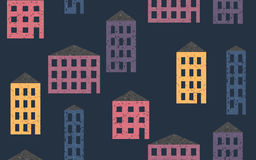 Seamless pattern colorful houses Stock Photo