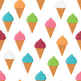Seamless pattern with colorful ice cream Stock Photos
