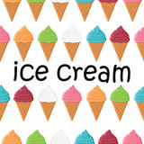 Seamless pattern with colorful ice cream Stock Images