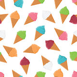 Seamless pattern with colorful ice cream Stock Photography