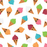 Seamless pattern with colorful ice cream Royalty Free Stock Photo