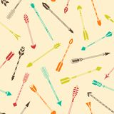 Seamless pattern with colorful Indian arrows Stock Image