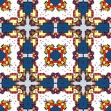 Seamless pattern. Of colorful kaleidoscope Stock Photography