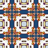 Seamless pattern of colorful kaleidoscope. Vector illustration Royalty Free Stock Photos