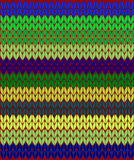 Seamless pattern with colorful knitted woolen threads Royalty Free Stock Photo