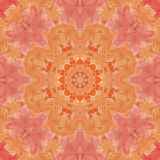 Seamless pattern with colorful leaves Royalty Free Stock Images
