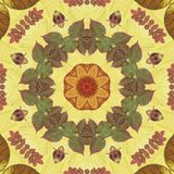 Seamless pattern with colorful leaves Stock Image