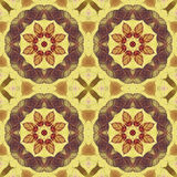 Seamless pattern with colorful leaves Royalty Free Stock Photo