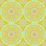 Seamless pattern with colorful leaves Royalty Free Stock Photos