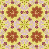 Seamless pattern with colorful leaves Stock Images