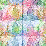 Seamless pattern with colorful leaves. Stock Photography