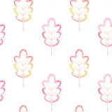 Seamless pattern with colorful leaves Royalty Free Stock Image
