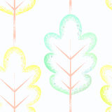 Seamless pattern with colorful leaves. Colors of leaves. Seamless  pattern Stock Photography