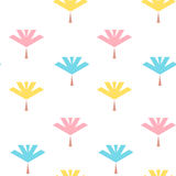 Seamless pattern with colorful leaves flat Stock Images