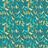 Seamless pattern with colorful leaves Stock Photography