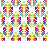 Seamless pattern with colorful leaves. Vector, EPS 10. Stock Photo