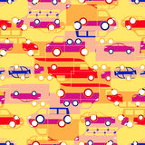 Seamless pattern with colorful little cars Royalty Free Stock Photo