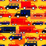 Seamless pattern with colorful little cars Royalty Free Stock Photography