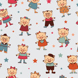 Seamless pattern with colorful little pigs. A seamless pattern with colorful little pigs Royalty Free Stock Photo