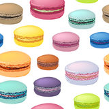 Seamless pattern with colorful macaroon cookies. Stock Image