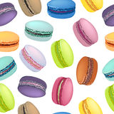Seamless pattern with colorful macaroon cookies. Royalty Free Stock Images