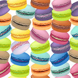 Seamless pattern with colorful macaroon cookies. Stock Photos