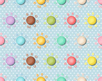 Seamless pattern with colorful macaroons, Macarons background Stock Photos