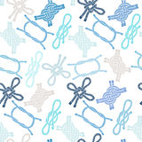 Seamless pattern with colorful marine knots. Stock Images