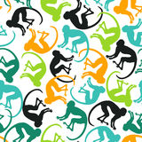 Seamless pattern with colorful monkey. Stock Photos