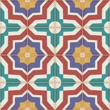 Seamless  pattern from colorful Moroccan tiles, ornaments. Stock Photo