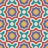 Seamless  pattern from colorful Moroccan tiles, ornaments. Royalty Free Stock Photos