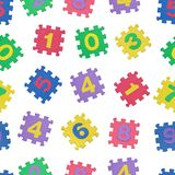 Seamless pattern of colorful number blocks Stock Photography