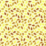 Seamless pattern with colorful oak leaves. Autumn texture. Autumn texture with red and yellow oak leaves. Seamless pattern. Autumn image. Falling leaves Royalty Free Illustration
