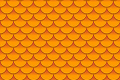 Seamless pattern of colorful orange fish scales. Fish scales, dragon skin, Japanese carp, dinosaur skin, pimples. Reptile, snake skin, shingles. Vector Stock Image