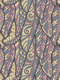 Seamless pattern of colorful ornamental bird feathers Stock Image